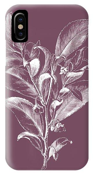 Bouquet iPhone X Case - Visnea Mocanera Purple Flower by Naxart Studio