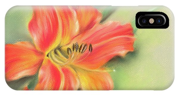 IPhone Case featuring the pastel Vivid Orange Daylily by MM Anderson