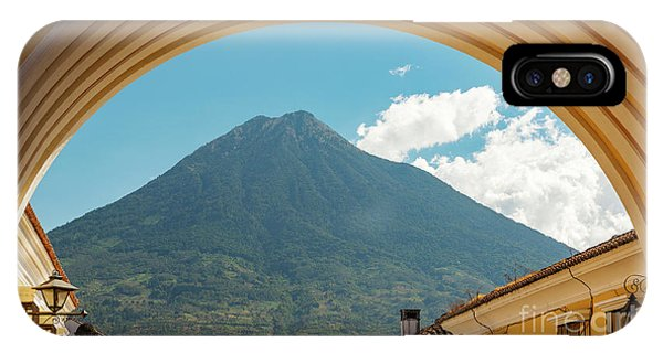 IPhone Case featuring the photograph Volcan De Agua Antigua Guatemala by Tim Hester