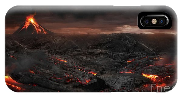 Hot iPhone Case - Volcanic Landscape by Jagoush