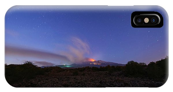 Volcano Etna Eruption IPhone Case