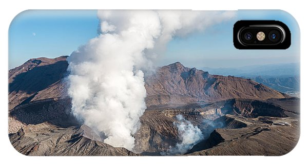 Spring Mountains iPhone Case - Volcano, Kyushu, Mount Aso, Beautiful by Gnoparus