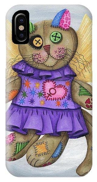 Voodoo Empress Fairy Cat Doll - Patchwork Cat IPhone Case