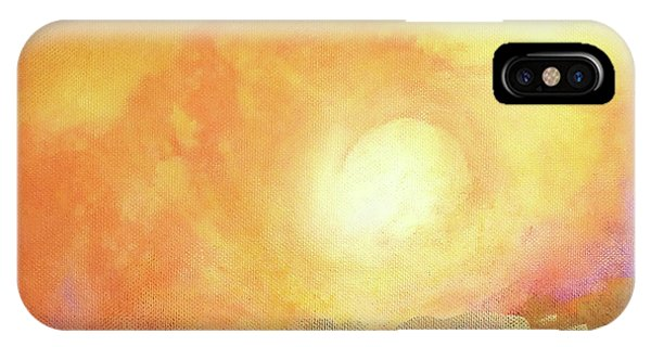 IPhone Case featuring the painting Vortex Of Light by Valerie Anne Kelly