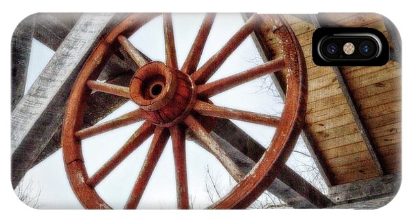 Kingsville iPhone Case - Wagon Wheel by Brian Wallace