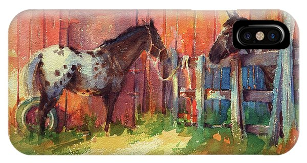 Ranch iPhone Case - Waiting by Steve Henderson