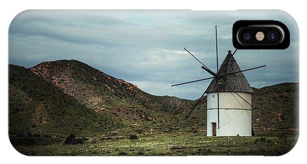 Windmill iPhone Case - Wake The Sleeping Giant by Evelina Kremsdorf