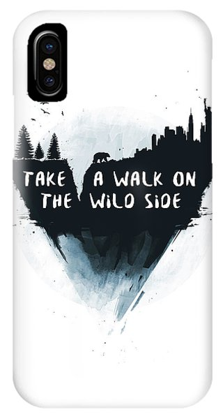 Typography iPhone Case - Walk On The Wild Side  by Balazs Solti