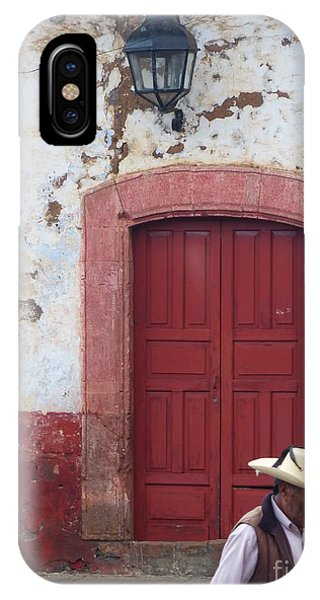 IPhone Case featuring the photograph Walking By In Patzcuaro by Rosanne Licciardi
