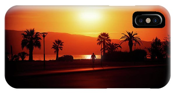IPhone Case featuring the photograph Walking Down The Street On Sunset by Milena Ilieva