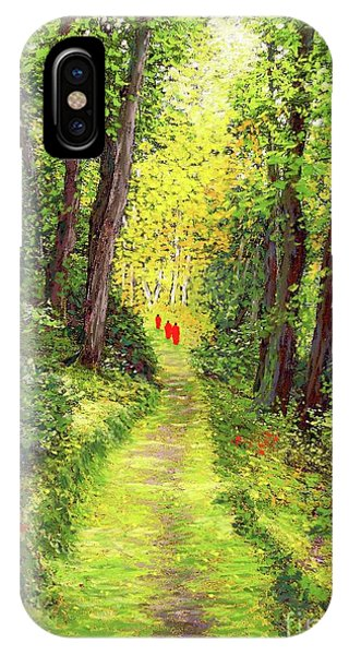 New Jersey iPhone Case - Walking Meditation by Jane Small