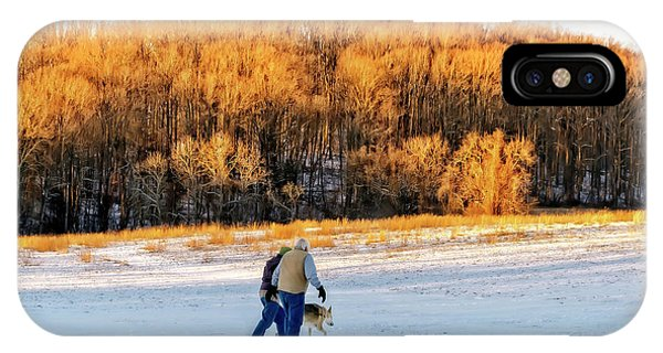 Kingsville iPhone Case - Walking The Dog by Brian Wallace