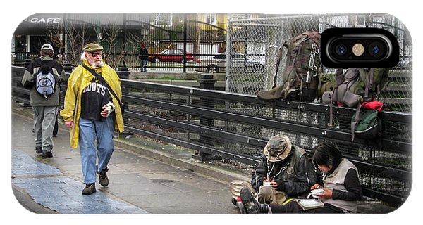 Walking-travellers IPhone Case