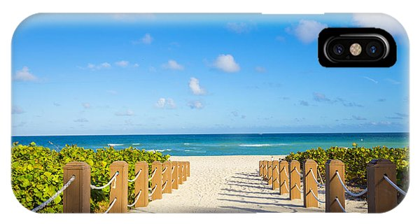 Heat iPhone Case - Walkway To Famous South Beach, Miami by Mia2you