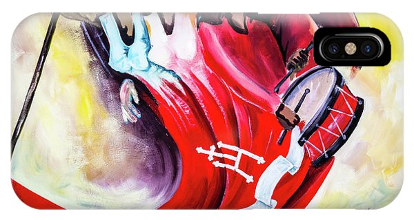 Wall Painting In Fogo, Cape Verde IPhone Case