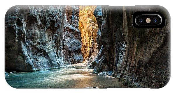 Red Rock iPhone X Case - Wall Street - Virgin River, Zion by Mattymeis