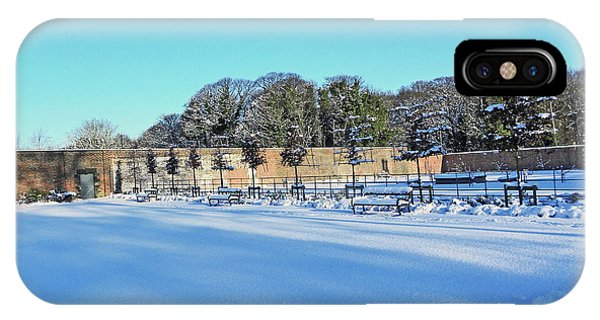 Walled Garden In The Snow IPhone Case
