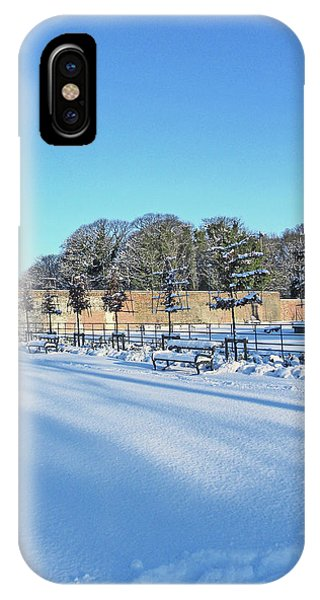 Walled Garden Winter Landscape IPhone Case