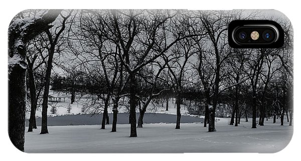 IPhone Case featuring the photograph Walnut Grove In Winter by Edward Peterson