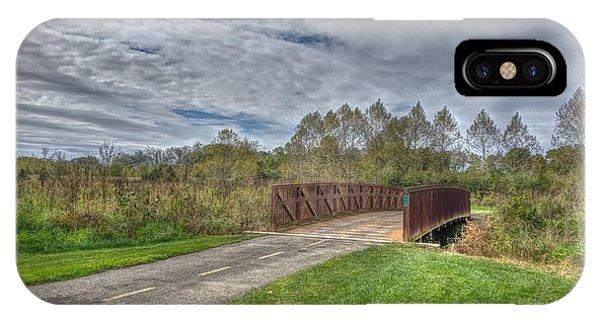 Walnut Woods Bridge - 1 IPhone Case