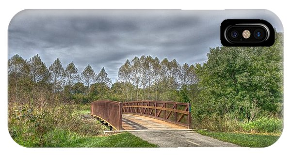 Walnut Woods Bridge - 2 IPhone Case