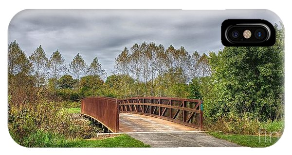 Walnut Woods Bridge - 3 IPhone Case
