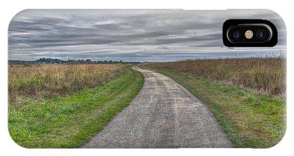 Walnut Woods Pathway - 1 IPhone Case