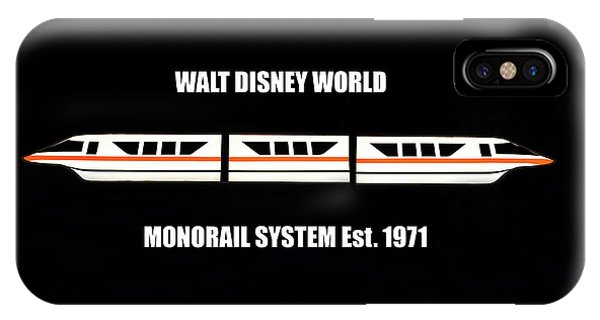 iPhone Case - Walt Disney World Monorail 1971 Poster A by David Lee Thompson