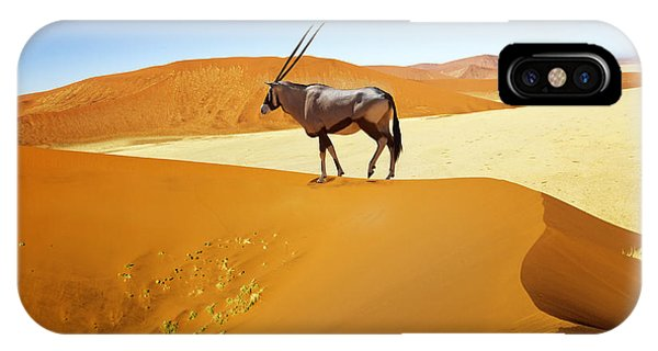 View Point iPhone Case - Wandering Dune Of Sossuvlei In Namibia by Mezzotint