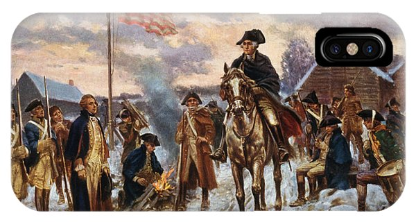 Hero iPhone Case - Washington At Valley Forge by War Is Hell Store
