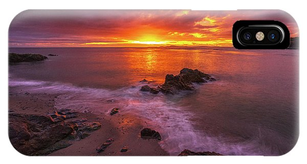 Whidbey iPhone Case - Washington Coast Sunset Serene Evening by Mike Reid
