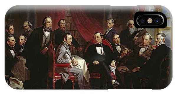 Culture Club iPhone Case - Washington Irving And His Literary Friends At Sunnyside, 1864 by Christian Schussele