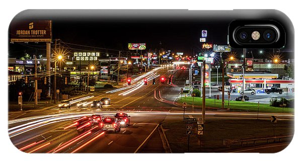 Washington Road At Night - Augusta Ga IPhone Case