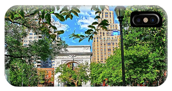iPhone Case - Washington Square, Manhattan, New York by Zal Latzkovich