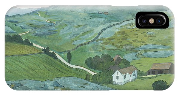 IPhone Case featuring the drawing Waste Land by Ivar Arosenius