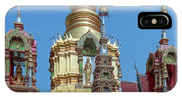 IPhone Case featuring the photograph Wat Ban Kong Phra That Chedi Brahma And Buddha Images Dthlu0501 by Gerry Gantt