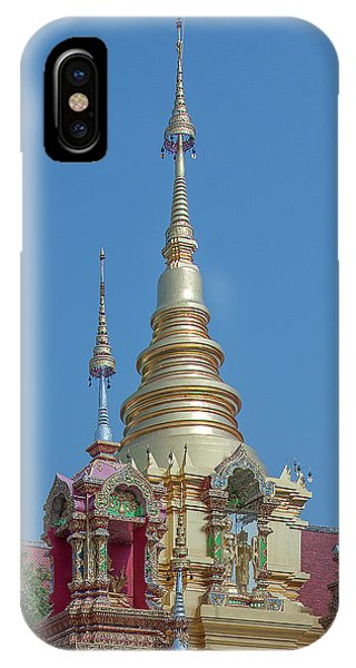 IPhone Case featuring the photograph Wat Ban Kong Phra That Chedi Pinnacle Dthlu0499 by Gerry Gantt