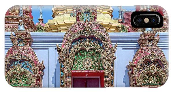 IPhone Case featuring the photograph Wat Ban Kong Phra That Chedi Windows Dthlu0503 by Gerry Gantt