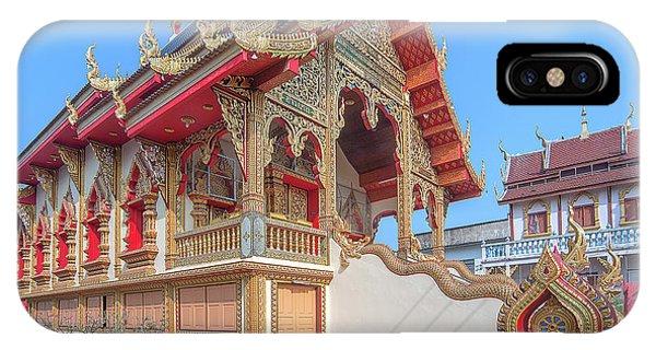 IPhone Case featuring the photograph Wat Chai Mongkon Phra Ubosot Dthlu0391 by Gerry Gantt