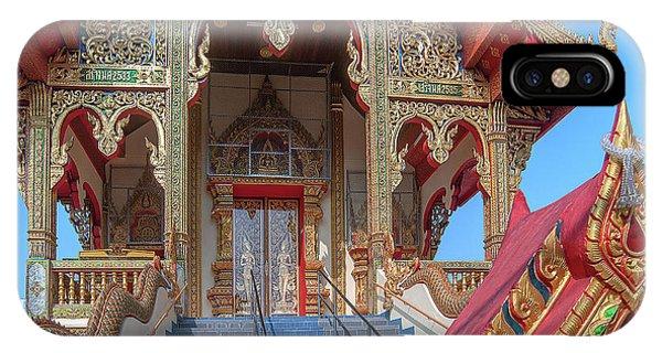 IPhone Case featuring the photograph Wat Chai Mongkon Phra Ubosot Entrance Dthlu0394 by Gerry Gantt