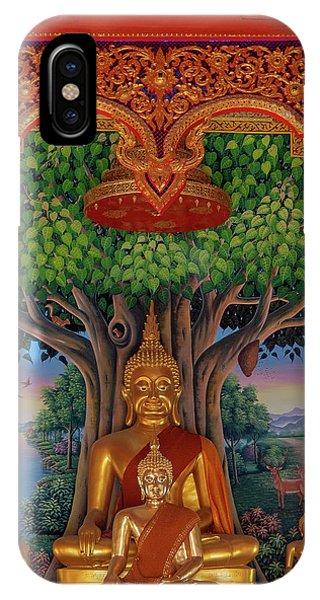 IPhone Case featuring the photograph Wat Kulek Phra Wihan Buddha Images Dthlu0448 by Gerry Gantt