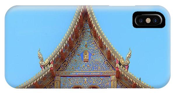 IPhone Case featuring the photograph Wat Kulek Phra Wihan Gable Dthlu0443 by Gerry Gantt