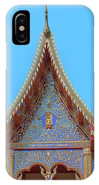 IPhone Case featuring the photograph Wat Kulek Phra Wihan Gable Dthlu0444 by Gerry Gantt