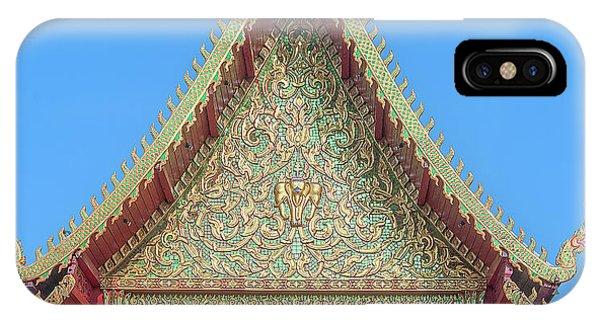 IPhone Case featuring the photograph Wat Nong Khrop Phra Ubosot Gable Dthcm2663 by Gerry Gantt