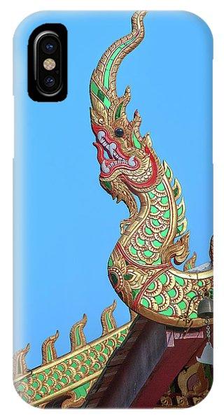 IPhone Case featuring the photograph Wat Nong Khrop Phra Ubosot Naga Roof Finials Dthcm2665 by Gerry Gantt