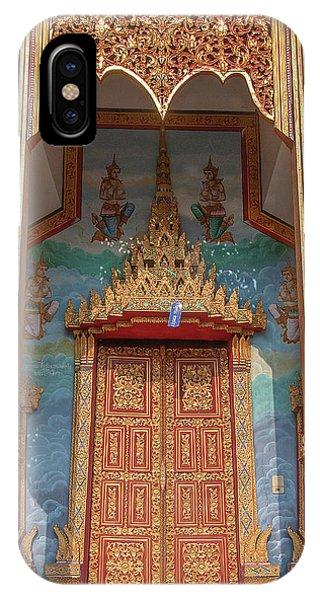 IPhone Case featuring the photograph Wat Nong Tong Phra Wihan Doors Dthcm2642 by Gerry Gantt