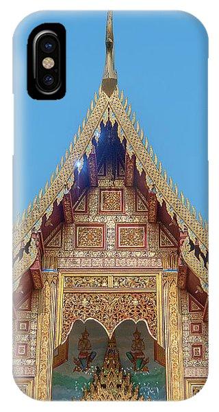 IPhone Case featuring the photograph Wat Nong Tong Phra Wihan Gable Dthcm2640 by Gerry Gantt