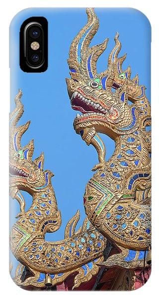 IPhone Case featuring the photograph Wat Nong Tong Phra Wihan Naga Roof Finials Dthcm2648 by Gerry Gantt