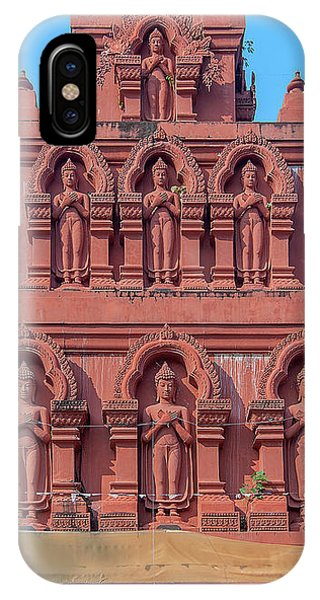 IPhone Case featuring the photograph Wat Pa Chedi Liam Phra Chedi Liam Buddha Images Dthcm2673 by Gerry Gantt