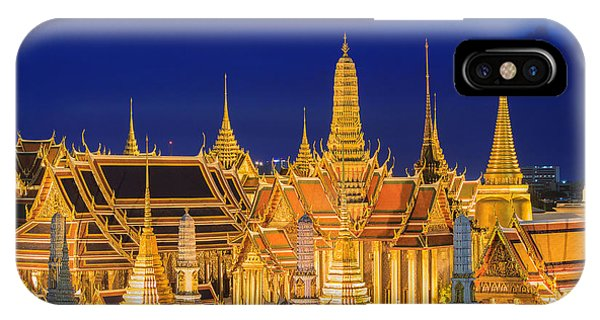 Hotel iPhone Case - Wat Phra Kaew, Temple Of The Emerald by Southtownboy Studio